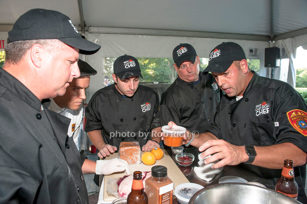 Chef Angelo Rodrigues with team Suffolk County.