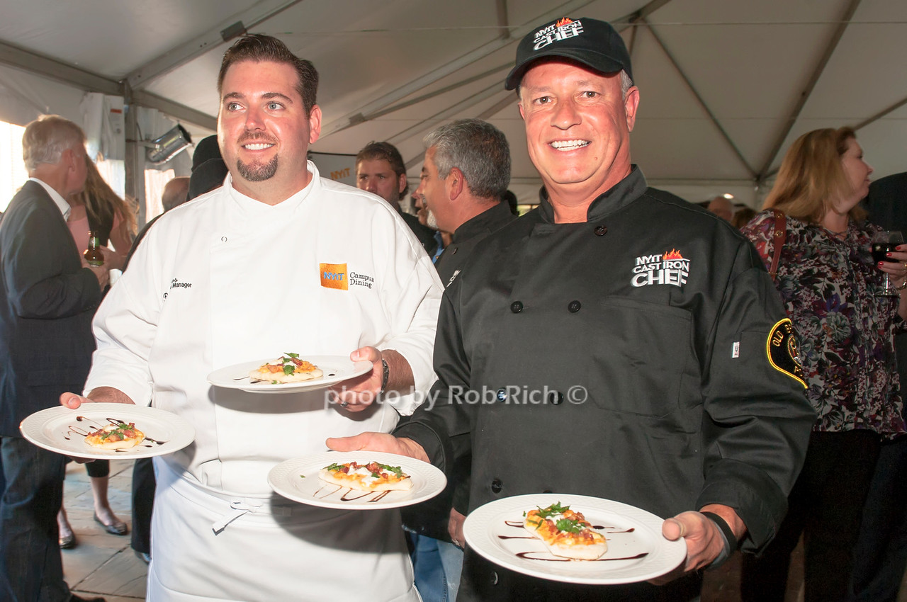 Chef Brian Hoos with Old Brookville's Shaun McKee