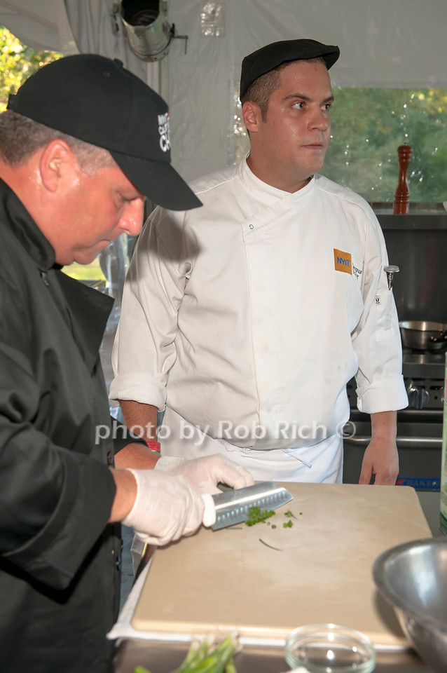 Suffolk County team member with Chef Angelo Rodrigues.