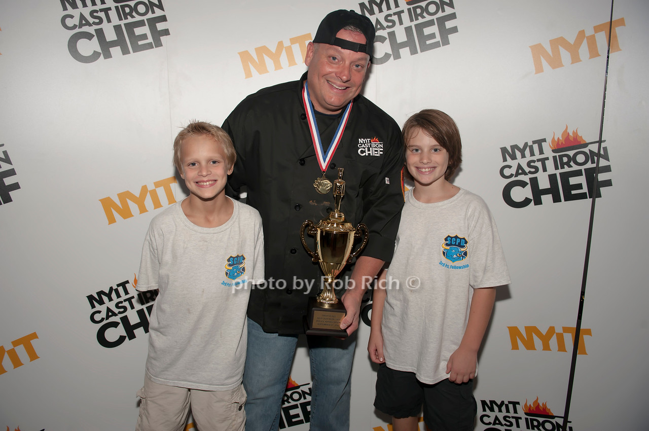 Suffolk County team member with his kids.
