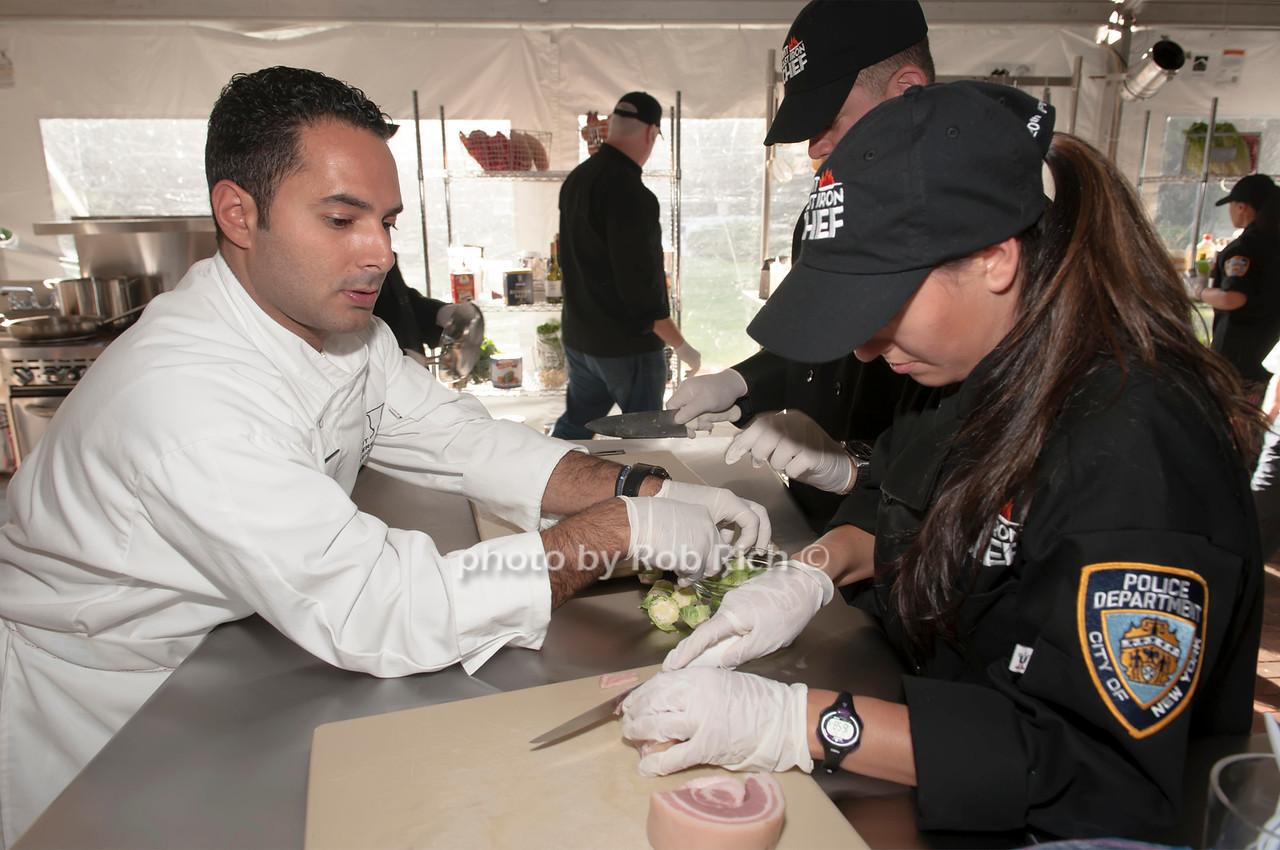 Chef Anton Vazanellis with his NTPD team.