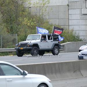 Pro Trump Caravan on the Long Island Expressway 10-11-20. photo by Rob Rich/SocietyAllure.com ©2020 robrich101@gmail.com 516-676-3939