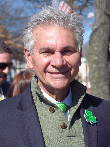 Glen Cove Mayor Reginald Spinello  attended the Glen Cove St.Patrick's day parade on Sunday, March 19 2017. photo by Rob Rich/SocietyAllure.com