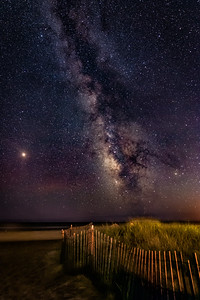 Milky Way over Ponquogue Beach II