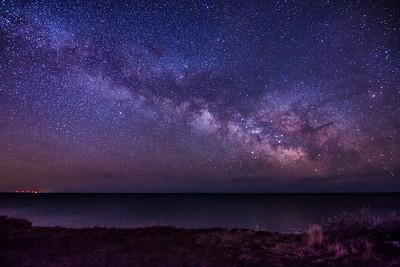 Milky Way over Montauk Bluffs