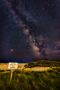 Milky Way over FIre Island Dunes