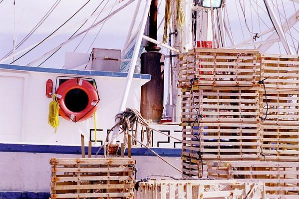 Lobster crates on Stock Island Harbor, Florida Keys