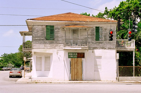 Dilapidated yet typical building in Key West