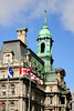 Hotel de Ville, which means town hall, in Old Montreal.  Love those oxidized copper roofs everywhere.