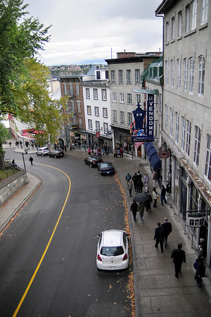 One thing I could not really capture here is how steep a climb the streets in Quebec City often are.  Walking from the bottom of Ville-Basse to the Chateau Frontenac at the top of Ville-Haute felt like a serious workout to my untrained thighs.