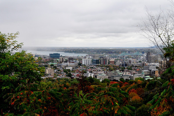 Overlooking Montreal from Parc Mont Royal viewing area