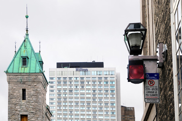Old and new architecture collide at the edge of Vieux Quebec.