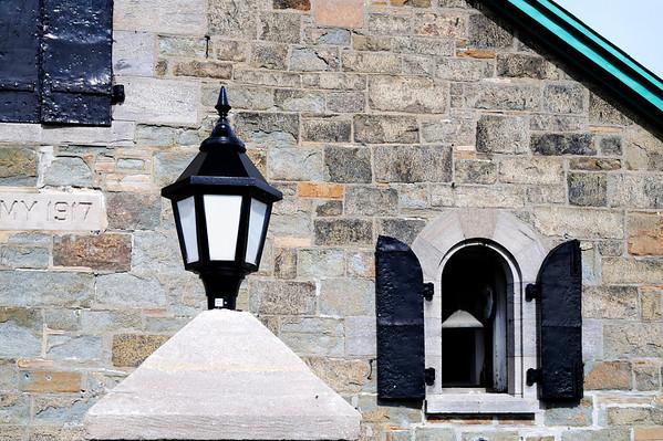 Close-up of the chapel at Quebec's citadel