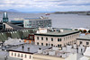 Overlooking the newer parts of Quebec from within the walled city, with St. Lawrence River in the background