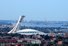 Montreal's Olympic Stadium looks like a giant space ship has landed right in the middle of town.