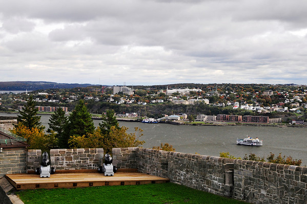 View across the St. Lawrence River from the wall surrounding the citadel.