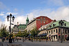 Place Jacques-Cartier in beautiful Vieux Montreal looks wordly, worn and warm.  There are lots of bistros and restaurants lining this spot, and during the warmer months, many street artists strut their stuff here as well.