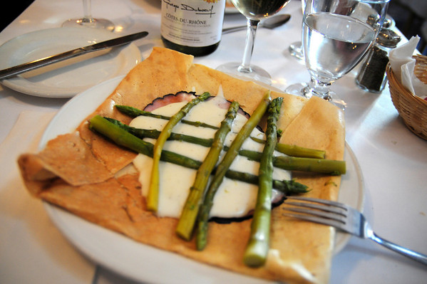 Of course we had to go for crepes in Quebec City as well, although a little more upscale than in Montreal.  In all honesty, this ham, cheese, asparagus & bechamel crepe was probably the best one I have ever eaten!