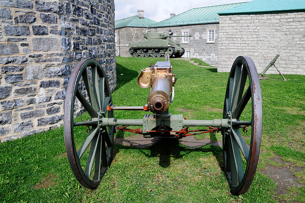 One of many old canons  exhibited at the citadel.