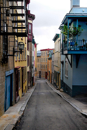 Old Quebec streets are charming everywhere, even the back alleys not part of the main drag.