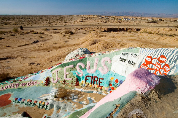 View from the mountain top towards Slab City.