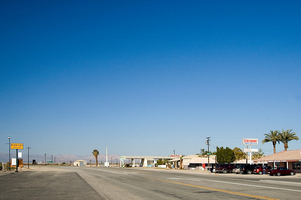 Time - and pretty much everything else - seemingly stands still in the small town of Niland on the Salton Sea's eastern tip.