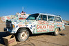 Everything and every vehicle carries a message at Salvation Mountain!