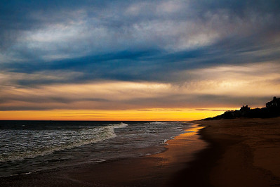 East Hampton Main Beach #002 - looking West shortly after sunset