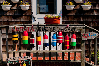Lobster/crab trap buoys in Orient, NY.