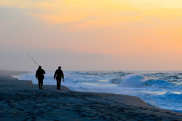 Anglers on and early morning outing at Robert Moses State Park