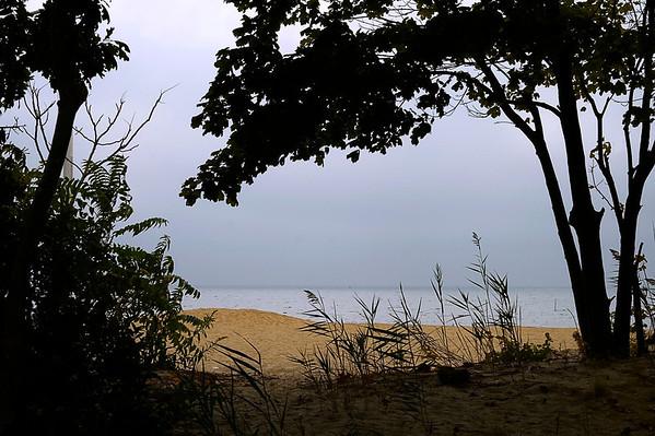 Even gloomy days look sorta pretty on Long Island.  Corey Beach in Blue Point, NY.