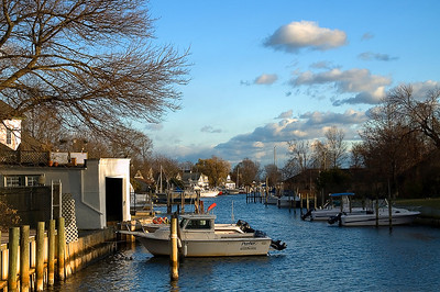 Long Island's South Shore is dotted with canals like this, leading into the Great South Bay