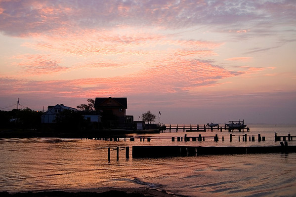 Award winning photo of a gorgeous sunrise over the Great South Bay, taken in Copiague, NY.