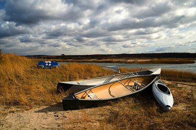Canoes found at Long Beach Town Park, Stony Brook, NY