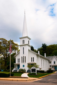 Northport Presbyterian Church at the tip of Main Street