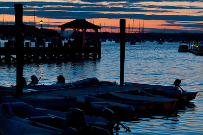 "Northport's ""Cow Harbor"" on a later summer evening"