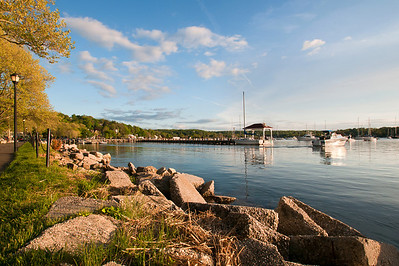 Northport harbor in later afternoon