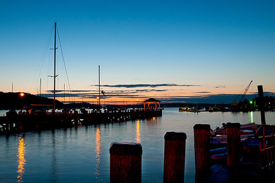 Northport harbor just after sunset