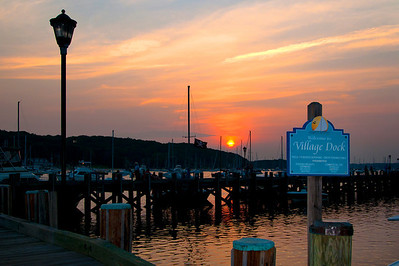Summer solstice at the Northport town docks