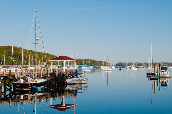 Early morning light over Northport harbor