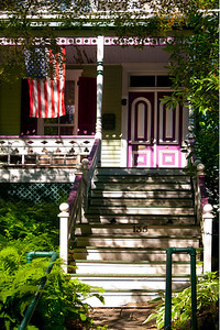 Typical Northport porch in late summer afternoon light.