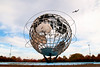 In my humble opinion, the Corona Meadows Park Unisphere is the most under-appreciated landmark in all of NYC.  It is hard to convey its size in a photograph, but in real life it truly dwarfs as well as awes you.