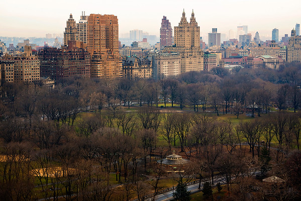 Overlooking the Southwestern corner of Central Park and Central Park West with the Eldorado in the background