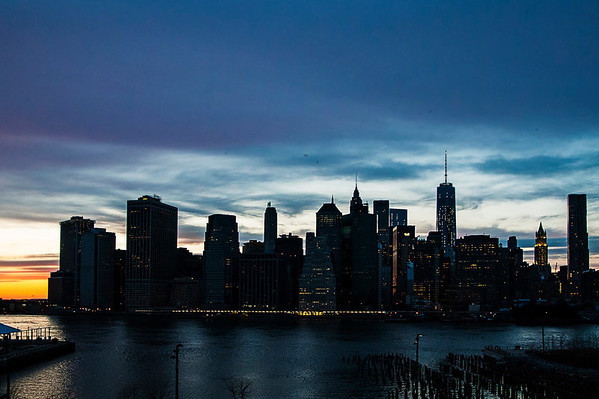 Skyline Shot of lower Manhattan, with the just recently completed Freedom Tower to the right
