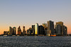 Southern Manhattan shortly after sunset