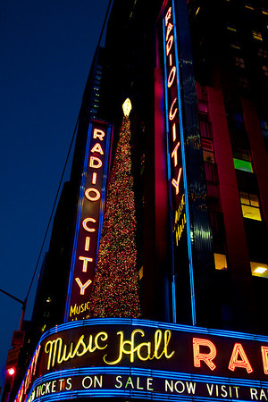 Radio City Music Hall shortly before nightfall