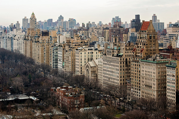 Overlooking the Southeastern corner of Central Park and Fifth Avenue