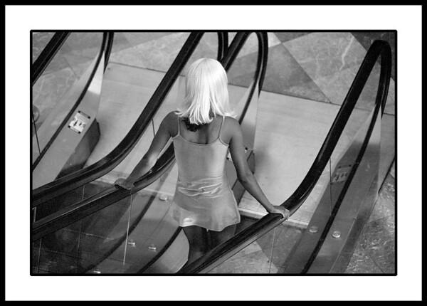 Transvestite working a fashion shoot in downtown Manhattan
