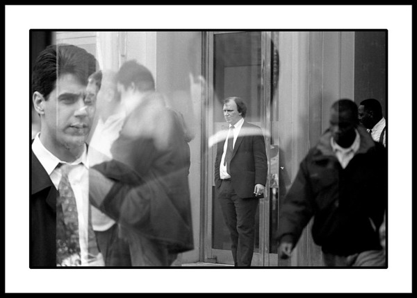 Double exposure of Wall Street moneymakers