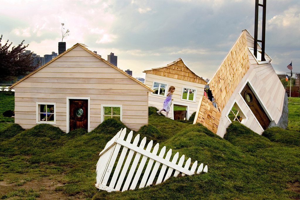 Another shot taken at the Socrates Sculpture Park in Long Island City. No, the house isn't photoshopped, it's one of the exhibits.  The little girl running by in a lavender dress adds to the surreal feel and was the result of a lot of patience and a bit of luck!